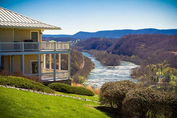 lodging overlooking river