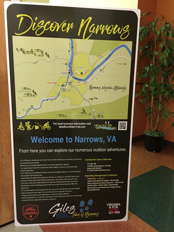Narrows Metal Sign RALLY project 2017