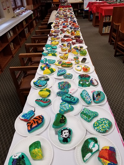 painted rock project table