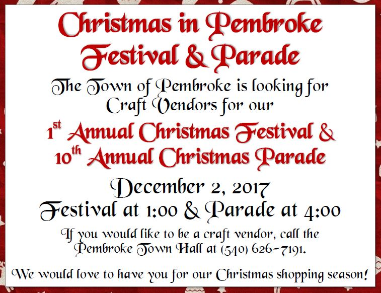 details on Pembroke VA holiday event