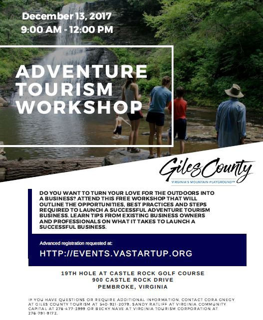 flyer details for Dec. Tourism Workship