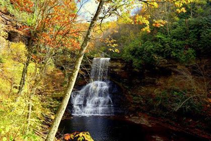 Cascade waterfall in Pembroke, Giles County, VA