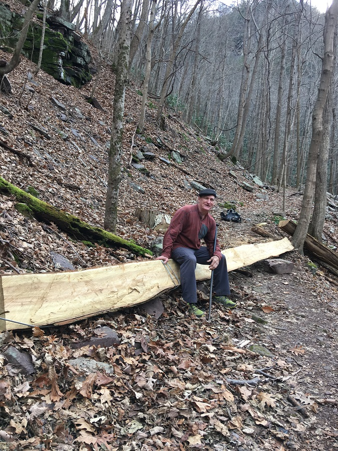 Ralph Robertson volunteer maintaining trails at Mill Creek