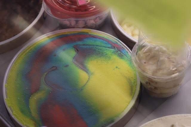 rainbow ice cream scoops