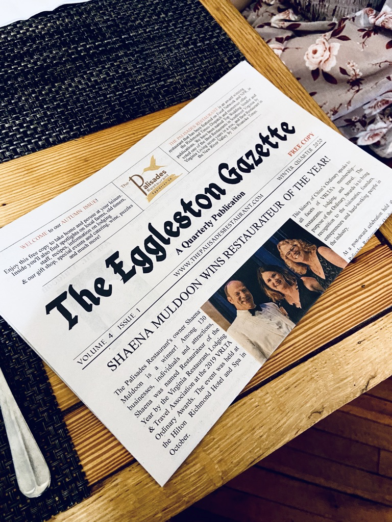 newspaper promotional item, The Palisades