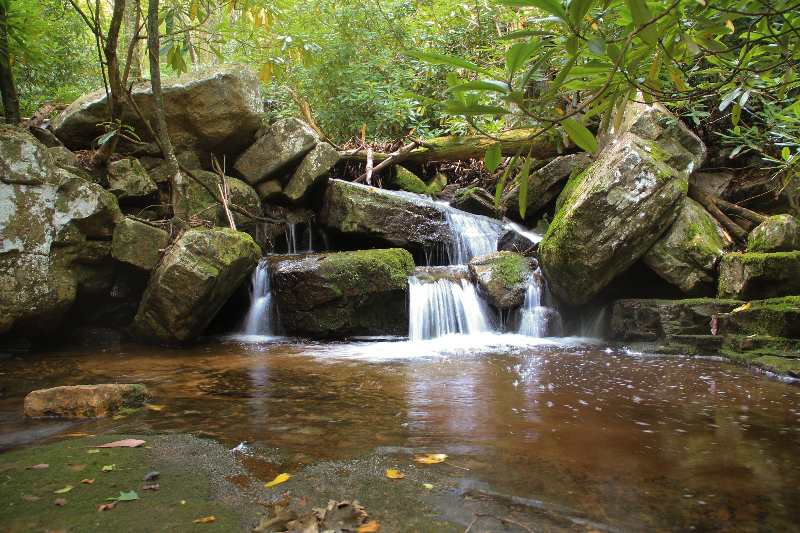 Waterfall and river at Mill Creek