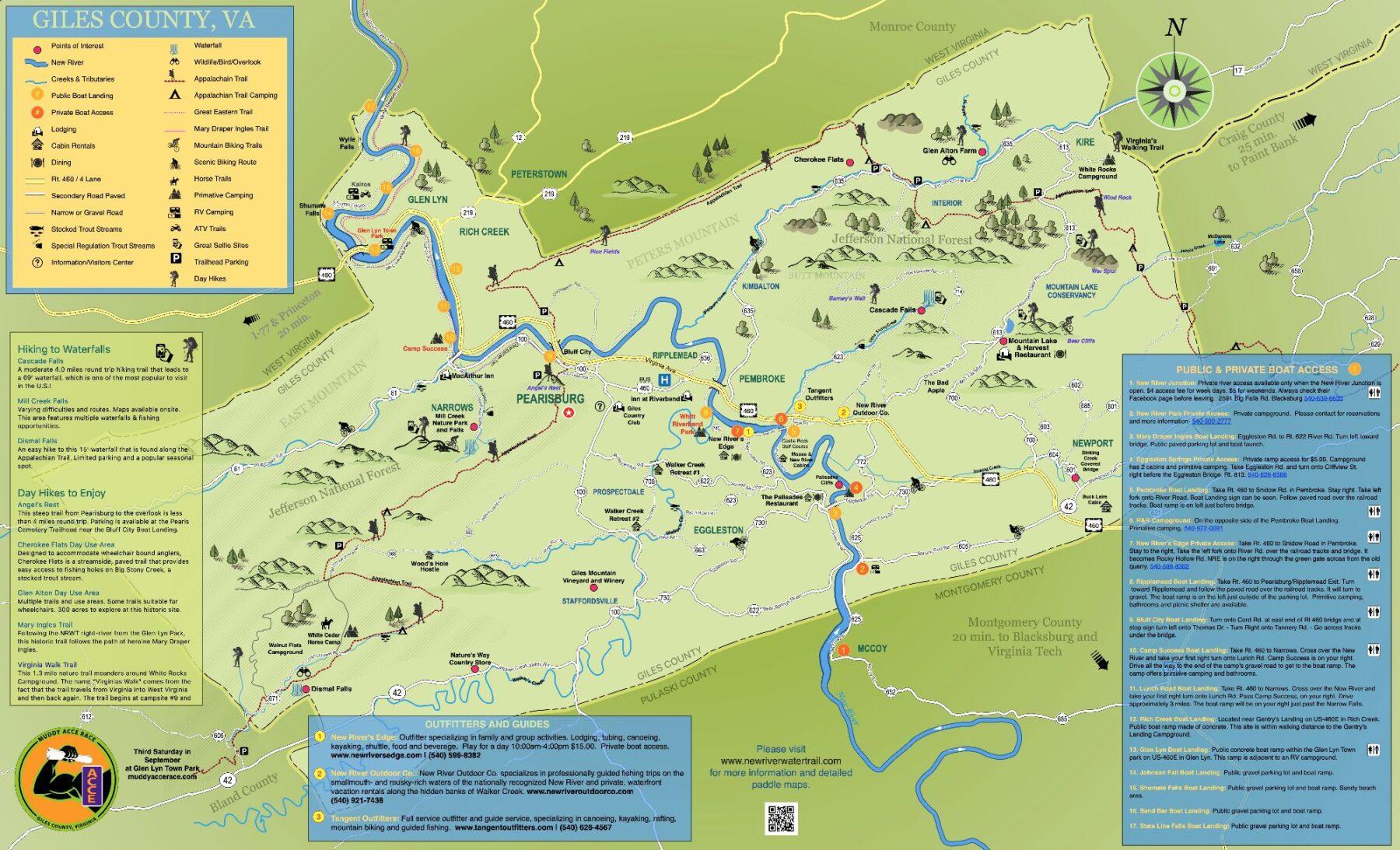 Giles county Map