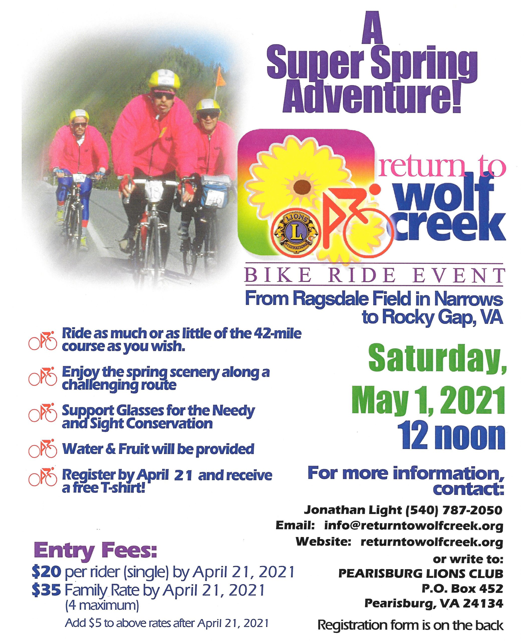 promo flyer for bike ride event